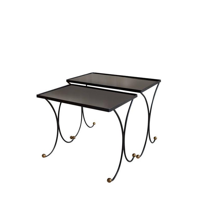 Jean Royère Jean Royère Style Nesting Tables- Set of 2 For Sale - Image 4 of 8