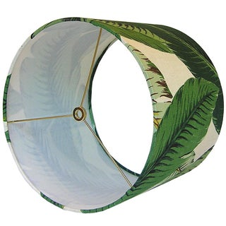 Swaying Palms Green Drum lampshade Preview