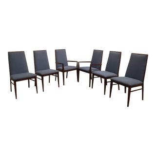 Dillingham Mid-Century Walnut Dining Chairs- Set of 6