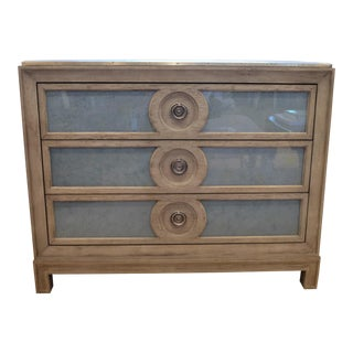 Modern Sherrill Furniture Weathered Grey Chest For Sale