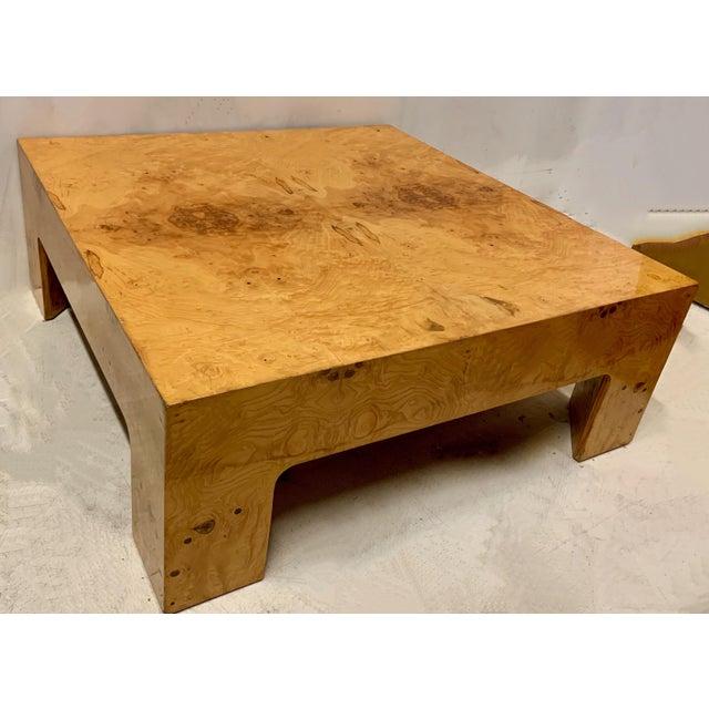 Mid-Century Modern Modern Burlwood Coffee Table Att. Milo Baughman For Sale - Image 3 of 4