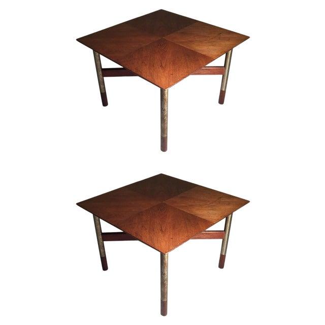 Rare Pair of Arne Vodder End Tables For Sale