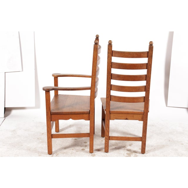 1940's Shaker-Style Dining Chairs And Matching Armchairs