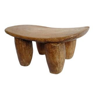 Vintage Lobi Wood Stool For Sale