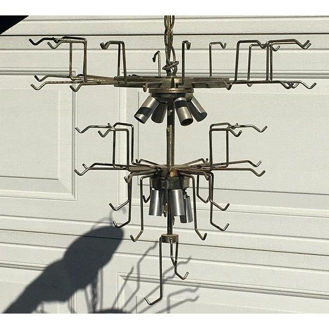 Mid-Century Modern 1950s Venini Tronchi Design Murano Chandelier For Sale - Image 3 of 11