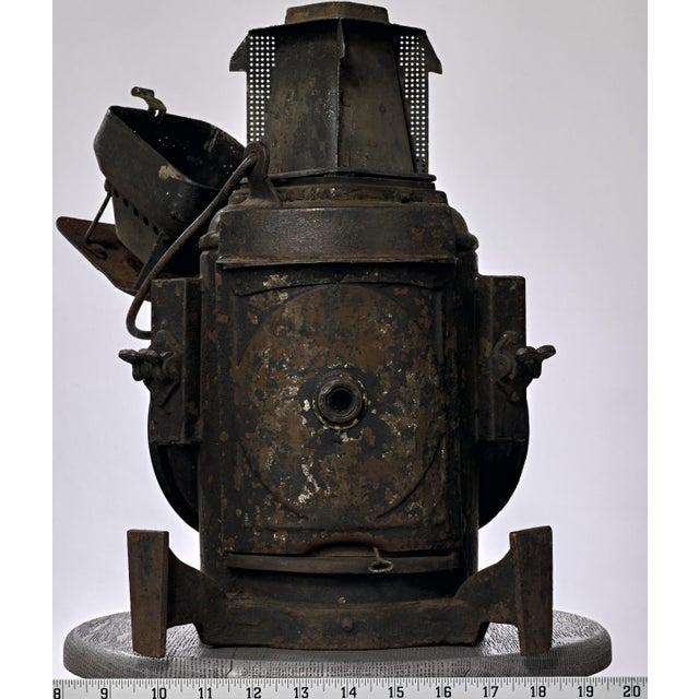 Late 19th Century 19th Century Industrial Adlake Rare Railroad Switching Light/Lantern For Sale - Image 5 of 13