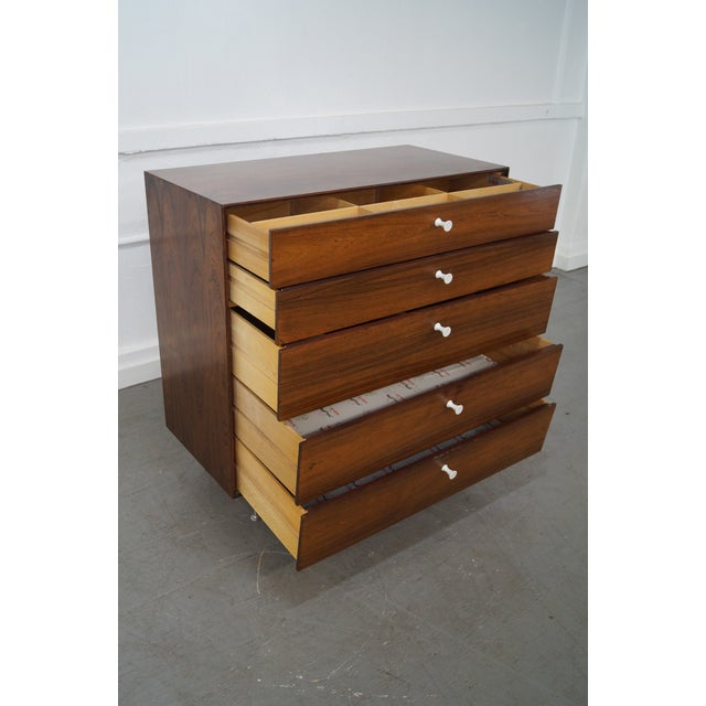 George Nelson for Herman Miller Thin Edge Rosewood Chest For Sale In Philadelphia - Image 6 of 10