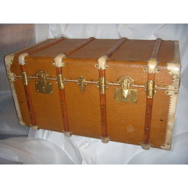 French Wood, Vellum & Leather Trunk - Image 2 of 10