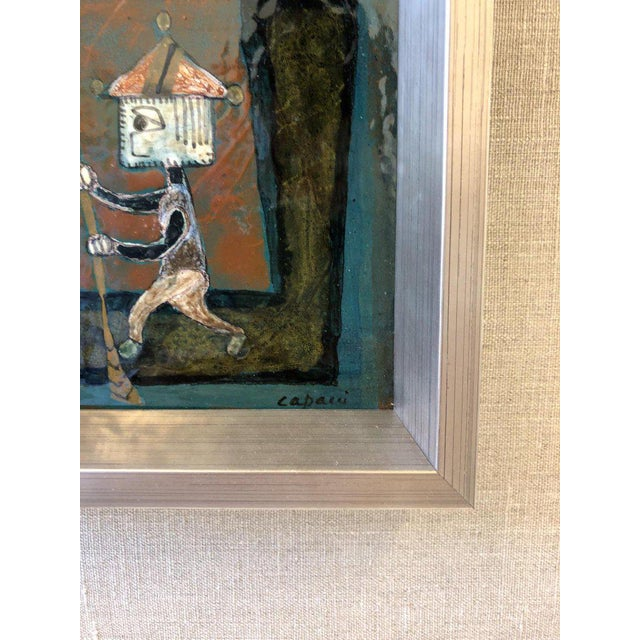 Pair of Italian Studio Ceramic Tiles by Bruno Capacci For Sale In Palm Springs - Image 6 of 9
