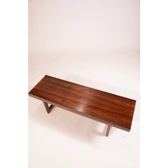 "Bruksbo Torbjorn Afdal for Bruksbo Norway ""Korbo"" Bench in Rosewood For Sale - Image 4 of 6"