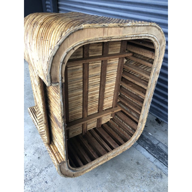 Vintage Split Reed Rattan Club Chair For Sale - Image 12 of 13