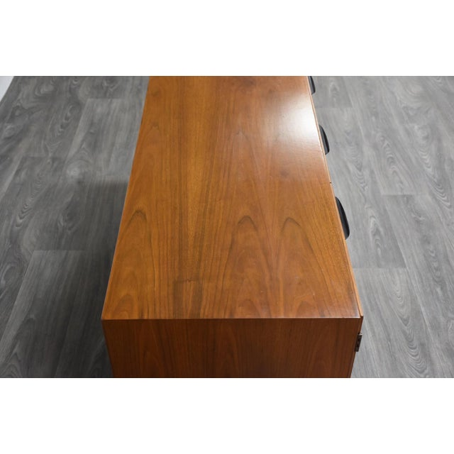Petite Walnut Credenza by Jens Risom For Sale In Boston - Image 6 of 12