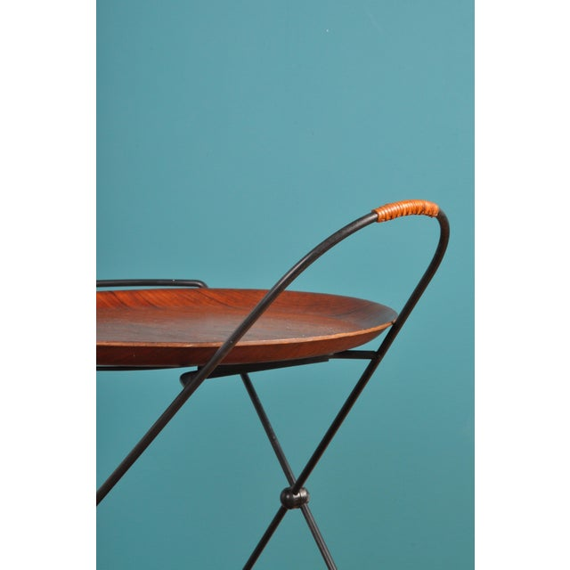 Black Collapsible Bar Cart, Sweden 1950s For Sale - Image 8 of 11