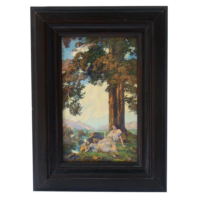 "1927 Maxfield Parrish ""Hilltop"" Original Art Print - Image 1 of 6"