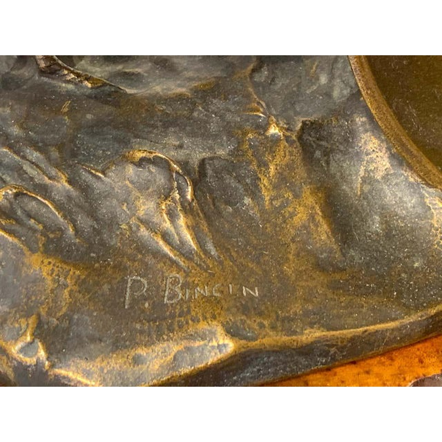 Belle Epoque French Bronze of Game Hen With Pedestal For Sale - Image 11 of 13