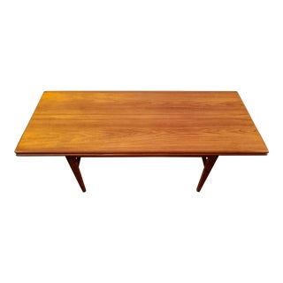 1960s Scandinavian Modern Kai Kristiansen for Vildbjerg Mobelfabrik Teak Elevator Table For Sale