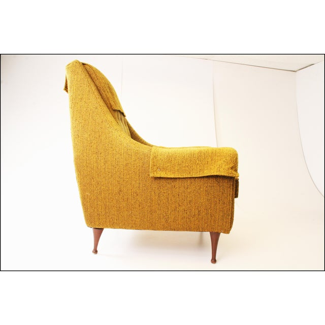 Mid Century Modern Upholstered Lounge Chair by Flexsteel - Image 3 of 11