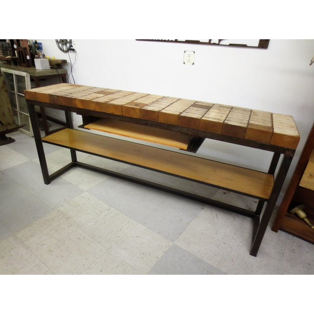Rustic Industrial Console A Table Handcrafted Chairish, Rustic Industrial Furniture