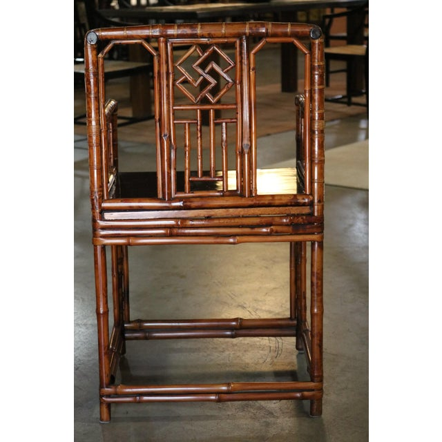 Traditional Bamboo Armchair, Shanxi Province, China, Late 18th Century For Sale - Image 3 of 7