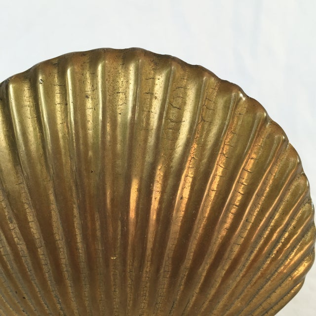 Brass Scallop Shell Bookends - A Pair - Image 6 of 6