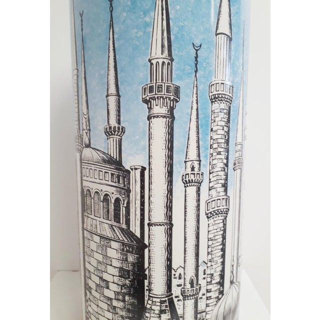 """1950s """"Minarets"""" Umbrella Stand by Fornasetti For Sale - Image 5 of 7"""