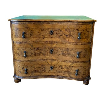 Late 18th Century Italian Fruitwood Three Drawer Commode For Sale