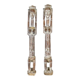 Anyi African Sculptures - a Pair For Sale