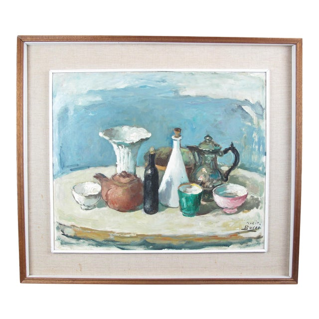 Vintage Mid-Century Mario Bucci Still Life Painting For Sale