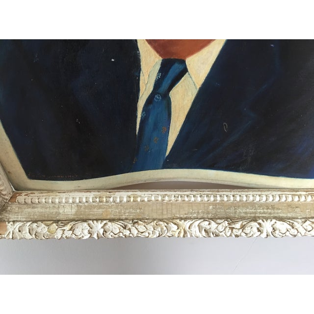 Mid-Century John F. Kennedy Portrait Painting For Sale - Image 5 of 5
