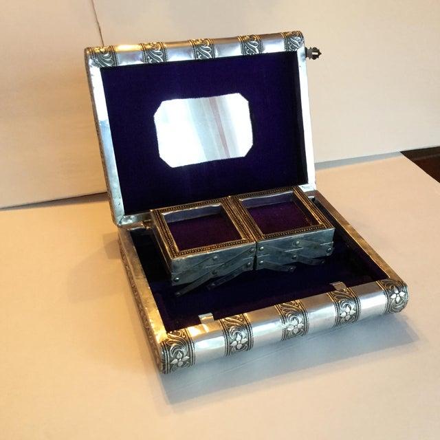 Silver Metal Jewelry Box - Image 5 of 11