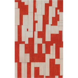 "Contemporary Abstract Red Painting on Panel ""PDP806ct16"" by Cecil Touchon For Sale"