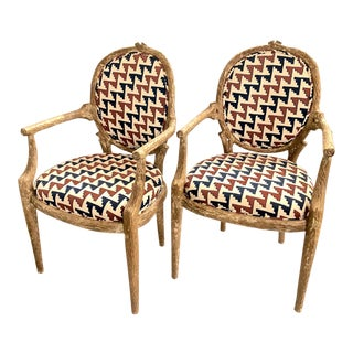 Faux Bois Chairs, Set of 6 For Sale
