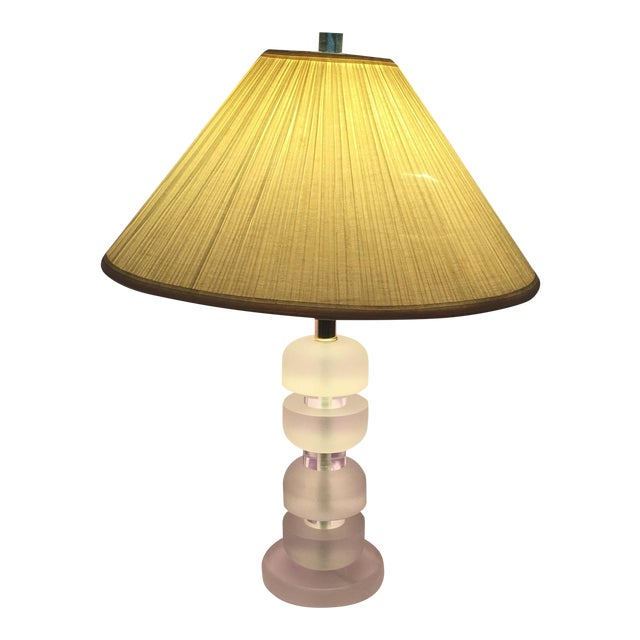 Mid-Century Stacked Lucite Lamp - Image 1 of 5