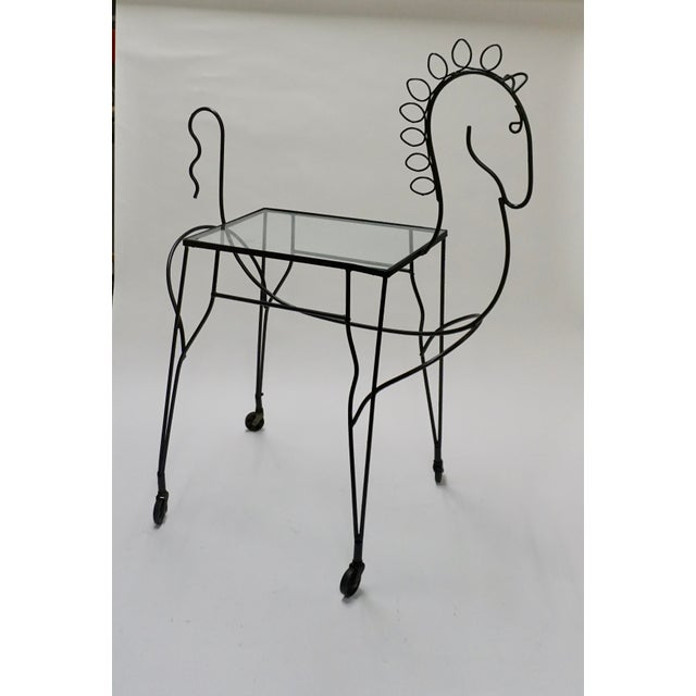 1950s 1950s Figurative Frederick Weinberg Horse Bar Cart For Sale - Image 5 of 5