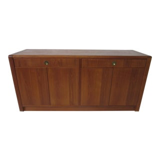 Mid-Century Modern Teak Wood Server / Cabinet by D- Scan For Sale
