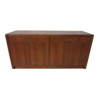 Teak Wood Server / Cabinet by D- Scan For Sale