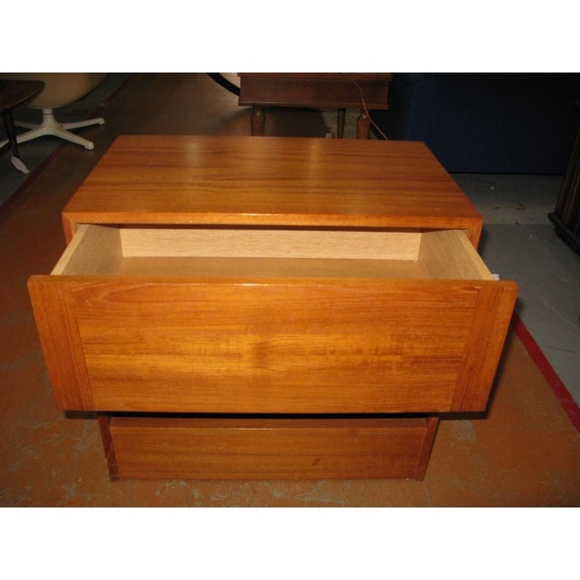 Mid-Century Danish Modern Teak Vinde Mobelfabrik 1-Drawer Nightstand - Image 2 of 10
