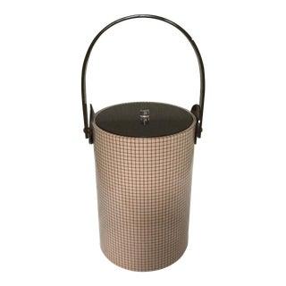 1960s Tan Vinyl Morgan Ice Bucket For Sale