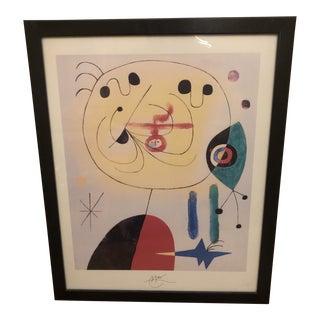 Vintage Joan Miro Lithograph Print For Sale