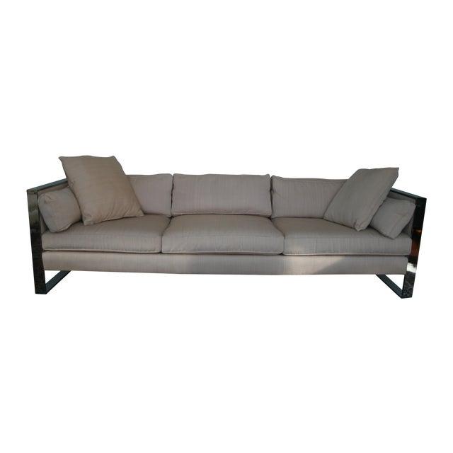 Milo Baughman Chrome Sofa and Loveseat - Image 1 of 11