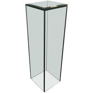 Custom Glass Square Tall Pedestal For Sale