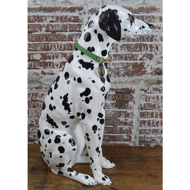 Vintage 1960s Ceramic Dalmatian Dog Figure For Sale - Image 4 of 13