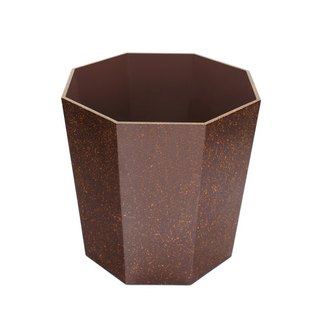 Miles Redd Collection Octagonal Waste Basket in Porphyry For Sale - Image 4 of 5