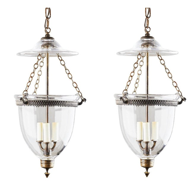 1890s English Bell Jar Lanterns - a Pair For Sale In San Francisco - Image 6 of 6