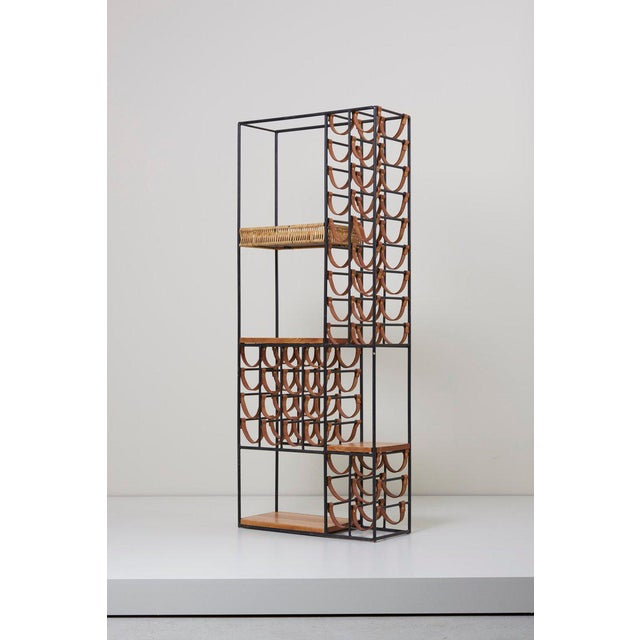 Mid-Century Modern Wrought Iron Wine Rack by Arthur Umanoff for Raymor , Us, 1950s For Sale - Image 3 of 8