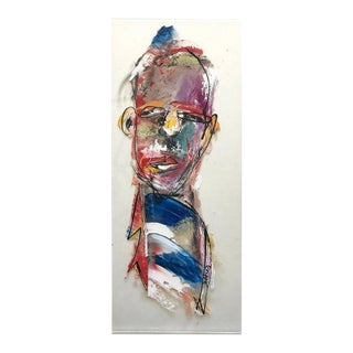 Contemporary Figurative Expressionism Oil on Plexiglass Painting by Scott Gruppé For Sale