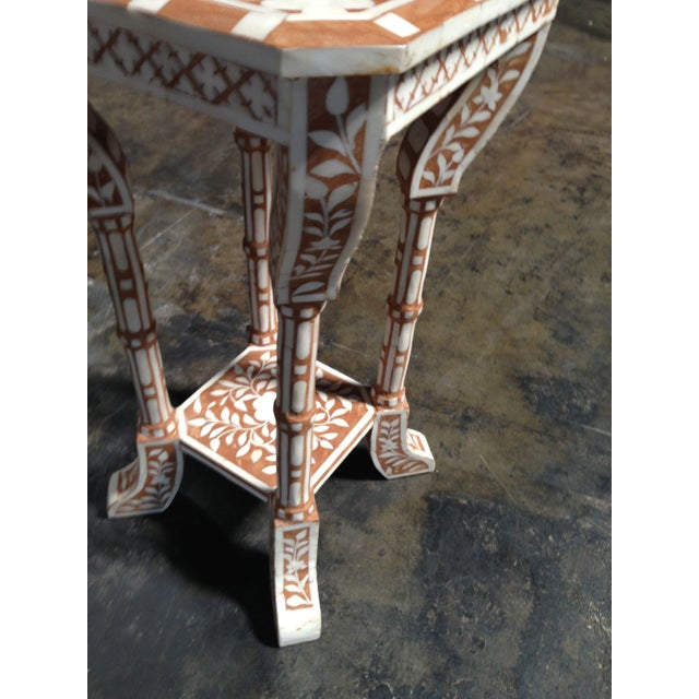 Pair of Bone Inlay Side Tables For Sale - Image 4 of 8