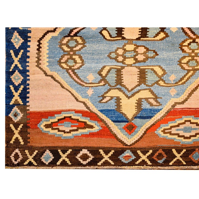 Bold Early 20th Century Azari Kilim Runner For Sale In Chicago - Image 6 of 9