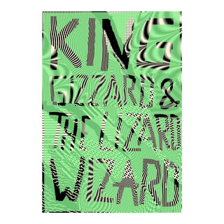 2018 Contemporary Music Poster, King Gizzard and the Lizard Wizard For Sale