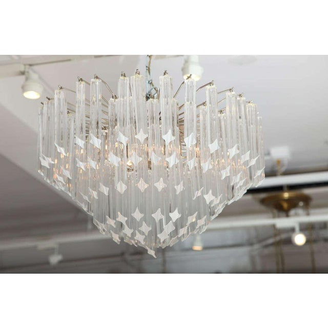 Italian Seven-Tier Venini Chandelier For Sale - Image 3 of 8